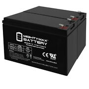 Mighty Max 12v 7ah Battery Replaces Lowrance Elite-4x Dsi Fishfinder - 2 Pack