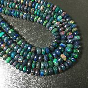 Aaa Black Opal Micro Faceted Beads Opal Loose Beads 18 Inch Opal Jewelry Making