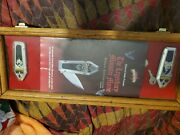 Franklin Mint Set Of Six Monster Knives In Glass Case With Keys And Flyer