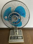 National Antique Electric Fan Three Propeller Vintage Showa Old From Japan