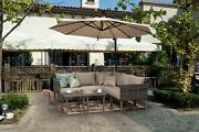 5pcs Outdoor Dining Sets Segmart Sectional L-shaped Glass Table Cushions Usa