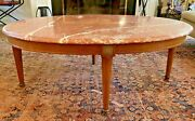 Marble - Cassard Chateau Original Fine Marble Top Coffee Table 1940's Vintage