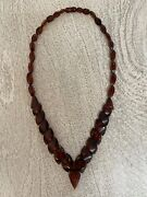 Amber. Russian Vintage Fancy Cherry Color 20 Neckless. Circa 1950.