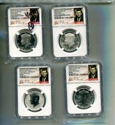 2014 P D S W Kennedy Half Dollar 4 Coin Set Ngc Pf69 Ms69 Sp69