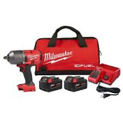 New Milwaukee 2767-22 M18 Fuel 18-volt 1/2-inch And 2 Batteries Impact Wrench Kit