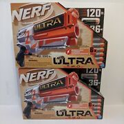 Lot Of 2 Nerf Ultra Two Motorized Blaster With 6 Nerf Ultra Darts New In Box