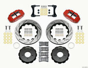 Wilwood Narrow Superlite 4r Front Hat Kit 14.00in Drill Red 2007-up For Jeep ...