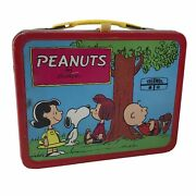 Vintage 1973 Peanuts Gang Snoopy Metal Lunch Box King Seeley Thermos Company