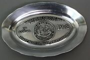 1978 Parkersburg Wv Country Club Pro Member Guest Pewter Presentation Tray