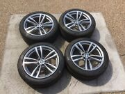 Bmw 5 And 7 Series New Oem Staggered Style 647m 19 Wheel/tire/tpms/center Cap Set