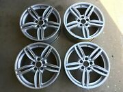 Bmw 5 And 6 Series Oem Genuine Double Spoke Style 351 19 Wheel And Center Cap Set