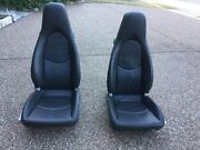 Porsche 987 Boxster Cayman Oem Factory Genuine Adaptive Gray Leather Seats