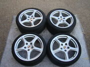Porsche Oem Factory 19 911 Carrera Classic Wheel/tire And Cap Set For Wide Body