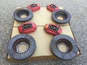 Porsche 996 And 987 Oem Genuine Complete Set F And R Red Calipers Rotors And Pads