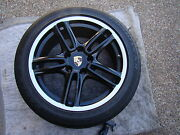 Porsche Oem Factory Black And Silver Lip 19 Panamera Turbo Wheel And Tire Set