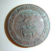 Rare Blank Unnamed - Us Special Operations - Challenge Coin - Vietnam War - 5056