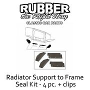1963 Ford Galaxie Radiator To Frame Seal Kit - 4 Pc. + Clips