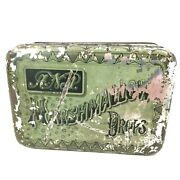 Antique 1879 Somers Bros Fine Metal Boxes Anp Marshmallow Drops Hinged Tin