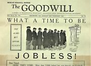 The Goodwill 1928 What A Time To Be Jobless Morgan Memorial Edition Boston Ma