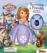 Disney Sofia The First Becoming A Princess Storybook And Amulet Necklace 1…