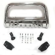 Silver Front Bumper Bull Bar Grille Guards Skid Plate For 2007-19 Toyota Tundra