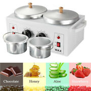 Double Wax Warmer Machine 2x600ml Electric Heater Two Pot Hair Removal Tool 110v