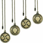 Ceiling Fan Pull Chain Set, 4 Pieces Pull Chain Extension Fan Pull Chain Pendant