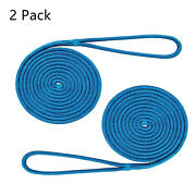 2 Pack 30ft 5/8 Inch Double Braid Nylon Dock Line Mooring Rope Boat Anchor Rope