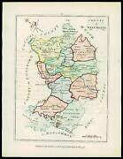 1776 Ireland - Engraved Antique Map Of County Of West Meath With Original Colour