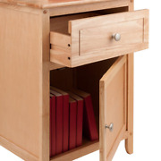 Winsome Eugene Accent Nightstands Table, W/ 2 Drawer Natural Made Of Solid Wood