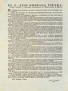 1838 - Andldquono Amnesty For Those Who Supported Texasandrdquo - Rare Mexican Imprint -