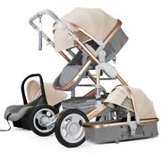 2021 High Landscape Baby Stroller 3 In 1 With Car Seat And Stroller Luxury