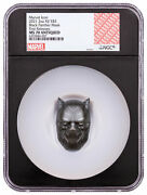 2021 Fiji Black Panther Mask Shaped 2 Oz Silver Antiqued 5 Coin Ngc Ms70
