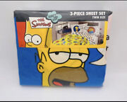 The Simpsons 3 Pc Sheet Set 2004 New In Package Twin Size