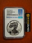 2019 S Enhanced Reverse Proof Silver Eagle Ngc Pf70 First Day Issue Coa 20949