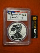 2013 W Reverse Proof Silver Eagle Pcgs Pr70 First Strike Edmund Moy Signed Label