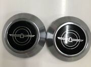 Nice Set Of 2 Vintage 1980-82 Ford Thunderbird Center Caps Oem Hard To Find