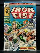 Iron Fist 14 - 1st Sabretooth - Marvel Comics - Fn To Fn/vf 6.0 To 7.0