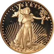 1995-w Gold American Eagle 50 Ngc Pf69 Ultra Cameo Brown Label