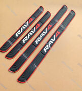 Rubber Accessories Door Scuff Sill Cover Panel Step Protectors For Toyota Rav4