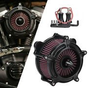 Turbine Air Cleaner Intake Filter For Harley Dyna Fxd Fxdl Road King Flhrs Flhr