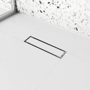 Linear Shower Drain 12 Inch With Tile Insert 2 In 1 Panels Brushed Stainless Ste