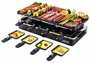 Raclette Table Grill Electric Indoor Grill Griddle Korean Bbq 20.710.27 Black