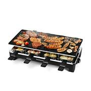 Raclette Table Grill, Electric Indoor Grill Korean Bbq 207.111 Jet Black