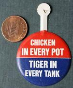 1968 Exxon Esso Enco Humble Oil And Gas Put A Tiger In Your Tank Campaign Tab Pin