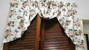 Waverly Pleasant Valley-3 Piece Window Treatment-2 Swags And Jabot In The Middle