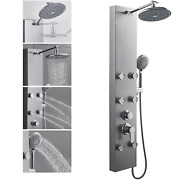 304 Stainless Steel Shower Panels Tower System, 8-inch Rainfall Shower