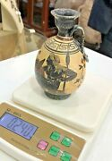 Amazing Antique Handcrafted Pottery Greek Style Red Man Figure Vase Copy 1200 Bc