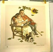 Norman Rockwell Four Ages Of Love Tender Memories 30 Out Of 200--signed-