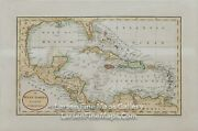 1810 Rare Map, The West Indies, Florida, Central America, Caribbean, Mexico